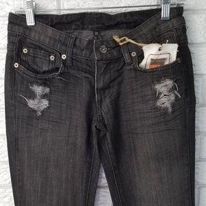 LF Carmar Denim Black Wash Jeans 24 x 32 NEW